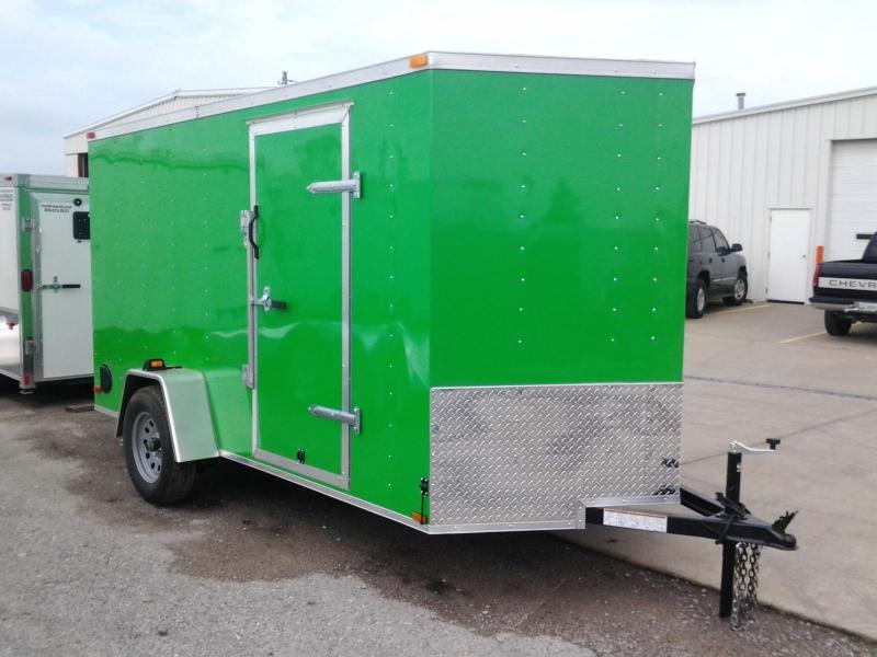 2015 Lark 6'  x 12' x 6' Vnose Enclosed Cargo Trailer w/ Ramp