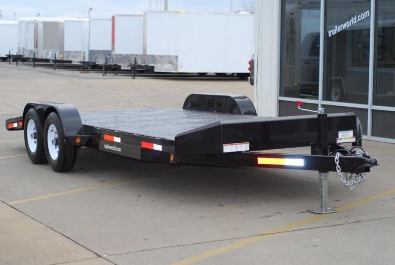 2016 Sure-Trac 18' Open Steel Car Hauler Trailer 10k GVWR