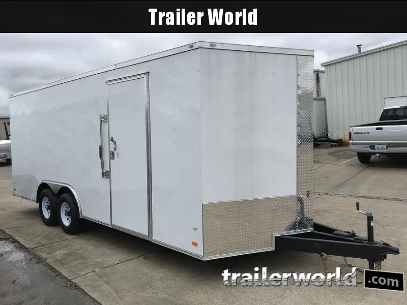 2018 CW  20' 10k GVWR Enclosed Vnose Car Trailer