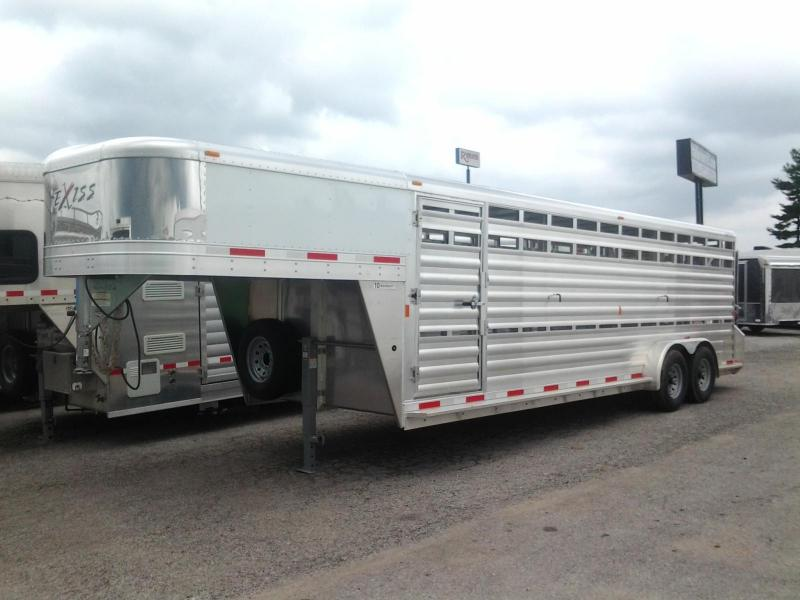 2015 Exiss 24' x 7' Aluminum Stock Trailer Lower Air Gap