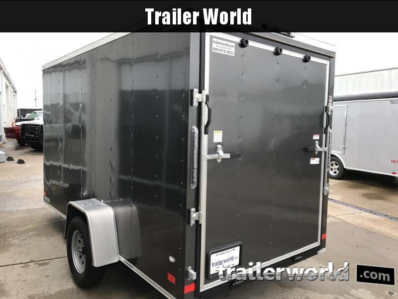 "2019 CW 6' x 12' x 6'3""  V-Nose Ramp Door Trailer"