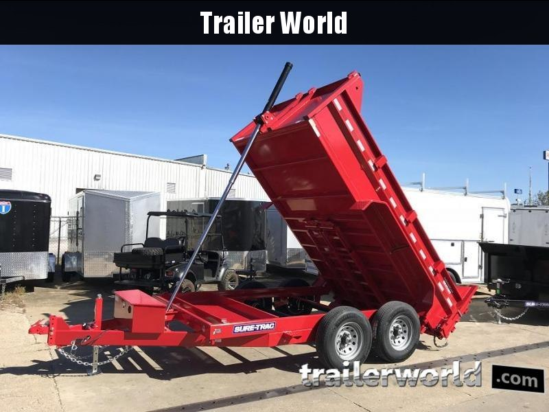 2019 Sure-Trac 12' Telescopic Dump Trailer 12K GVWR