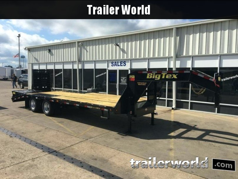 2018 Big Tex Trailers 22GN-25' + 5' Flatbed MEGA Ramps Equipment Trailers