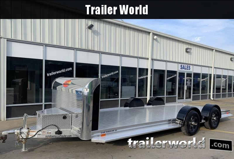 2020 Sundowner 20' Aluminum Tapered Front Open Car Hauler Trailer