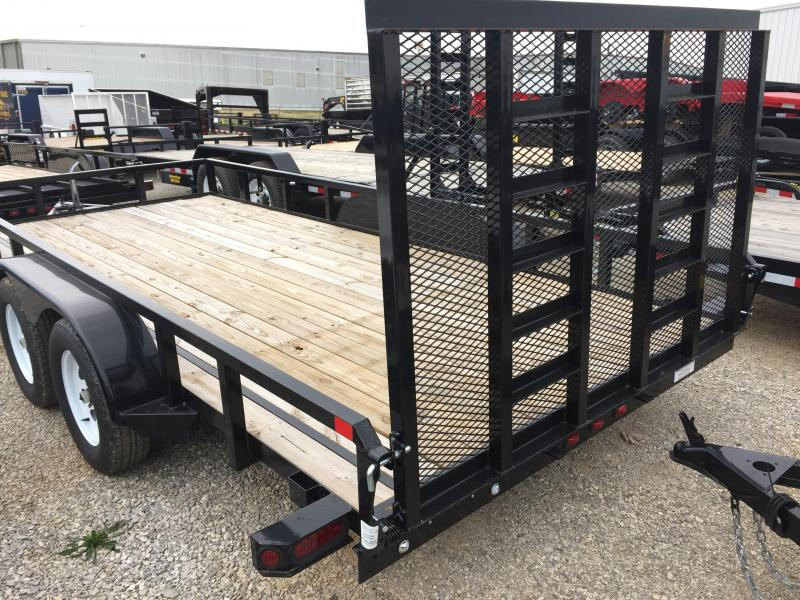 2015 Sure-Trac 16' Tube Top Utility Trailer