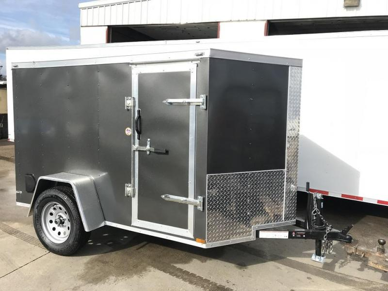 2019 Lark 5' x 8'  x 5' V-Nose Enclosed Motorcycle Trailer