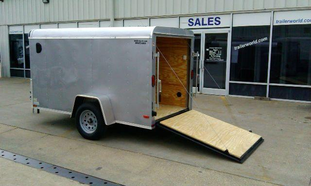 2014 Lark 5' x 10' x 5'  Enclosed Cargo Trailer Ramp Door