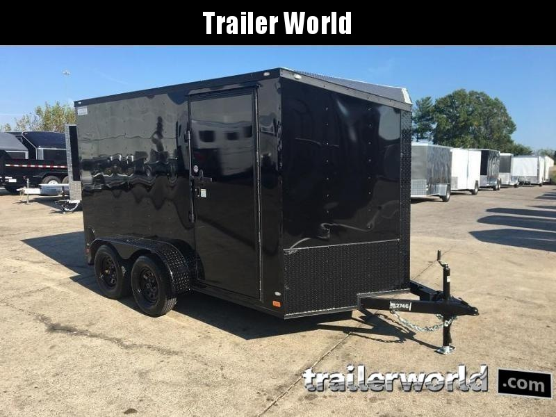 2019 CW 7' x 12' x 6.5' Vnose Enclosed Trailer Black Out