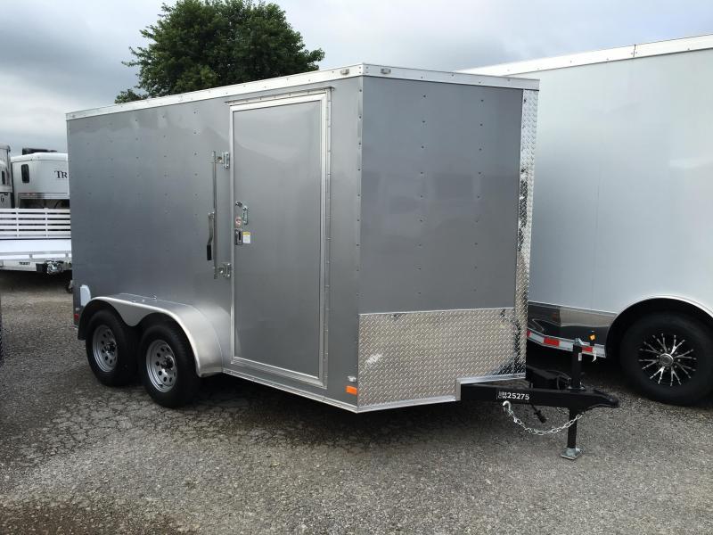 2016 CW 7' x 12' x 6.5' Cargo Vnose Enclosed Trailer Ramp Door