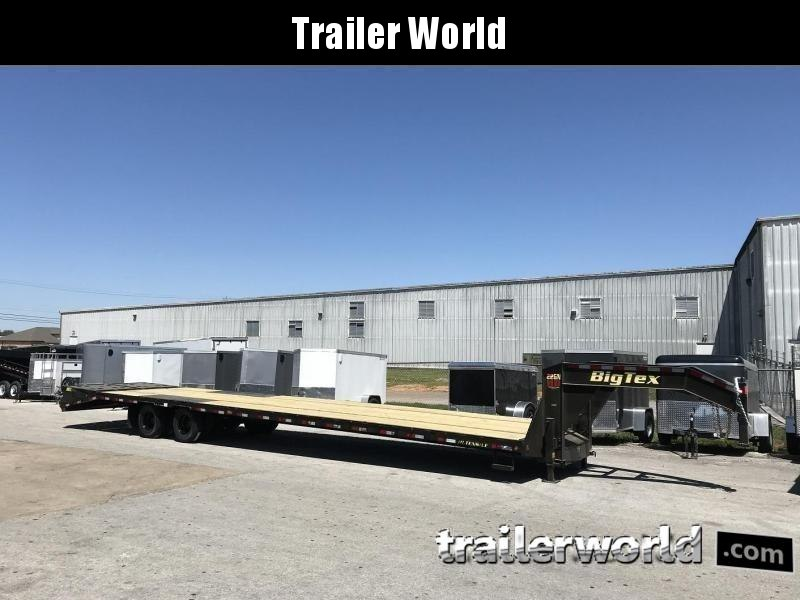 2019 Big Tex Trailers 22GN-35' + 5'  Gooseneck Flatbed Trailer MEGA Ramps
