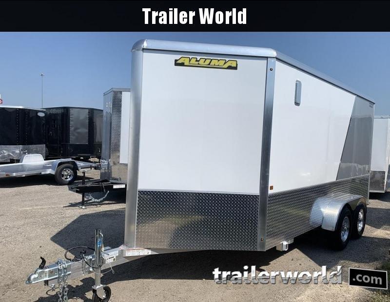 """2020 Aluma AE714 7' x 14' x 6'9"""" Aluminum Enclosed Cargo Trailer"""