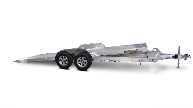 2015 Aluma 21.5' Aluminum Tilt Bed Open Car Hauler Trailer 10k GVWR