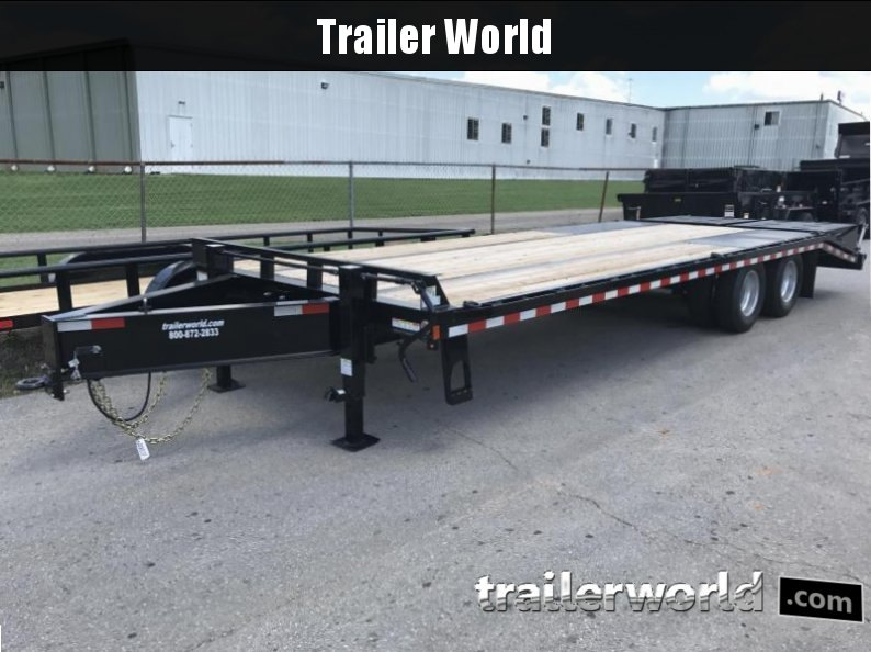 2017 Sure-Trac 20' + 5' Pintle Hitch Dual Tandem 20K GVWR