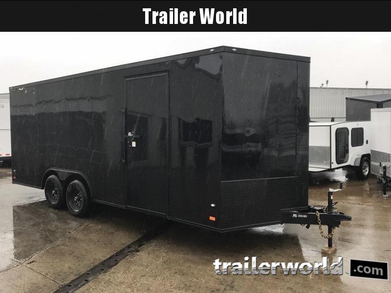 2018 CW  20' 10k GVWR Enclosed Vnose Car Trailer Black-Out Pkg