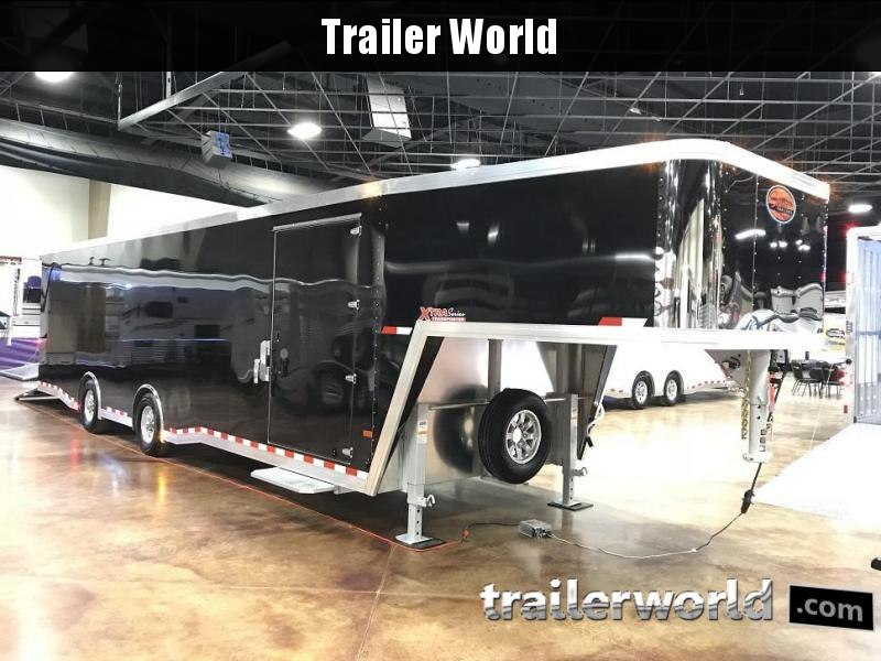 2019 Sundowner XTRA 38' Gooseneck Race Model Aluminum Enclosed Car Trailer