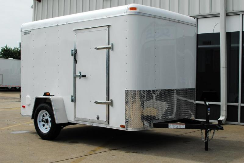 2014 Lark 6' x 10'  Enclosed Cargo Trailer Ramp Door