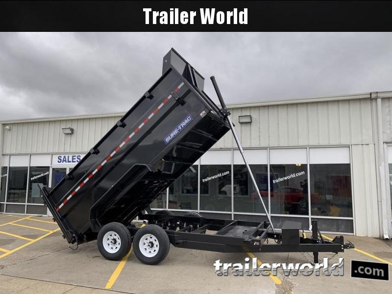 2019 Sure-Trac 14' Dump 4' Sides Trailer 14K GVWR Telescopic