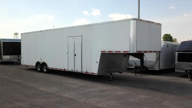 2004 Forest River 36' Aluminum Gooseneck Enclosed Cargo Trailer