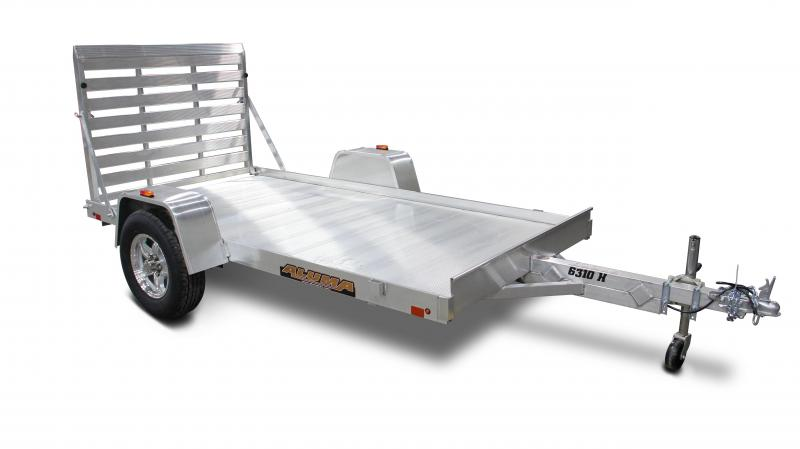 2015 Aluma 6310H  10' Aluminum Utility Trailer