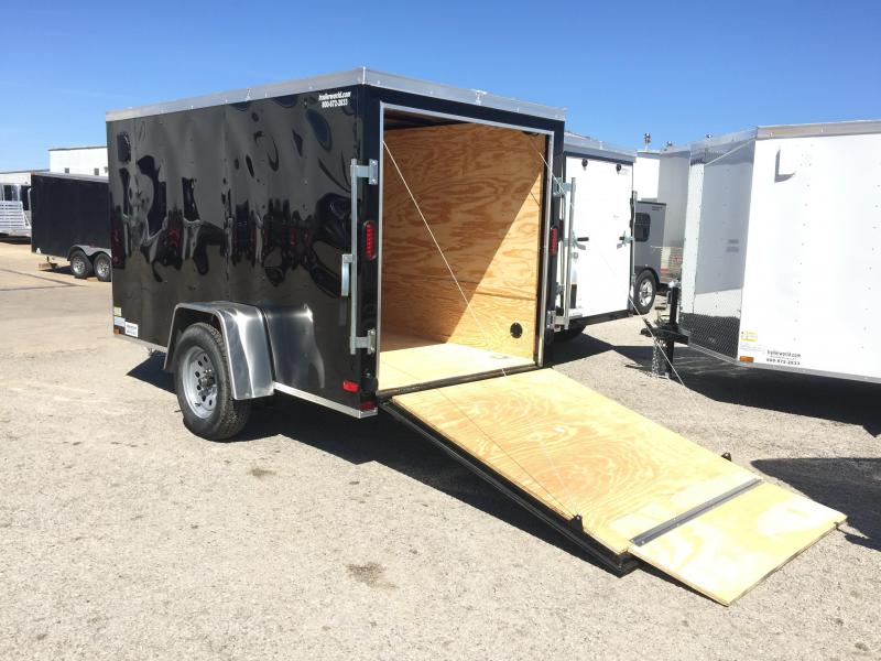 2016 Lark 5' x 10' Vnose Enclosed Cargo Trailer w/ Ramp Door