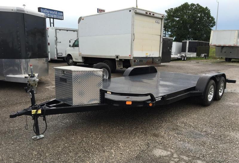 2014 Big Tex 70DM 18' Steel Open Car Hauler Flatbed Trailer