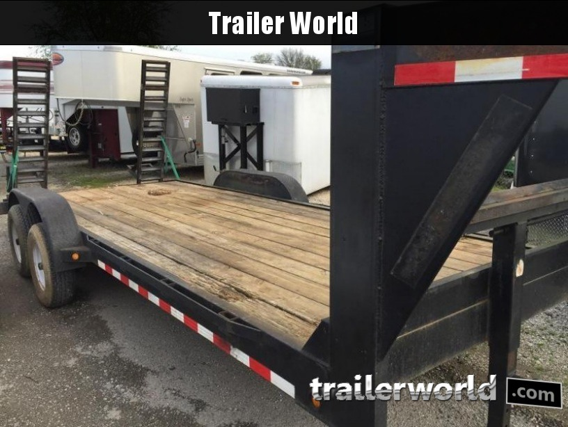 2007 TLC 20' Flatbed Gooseneck Equipment Trailer