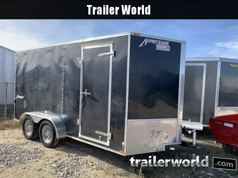 2014 Homesteader Inc. 7x14x6.5 Vnose Enclosed Cargo Trailer