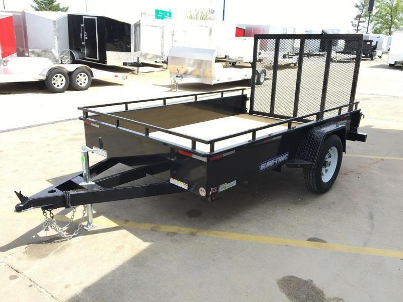 2016 Sure-Trac 7' x 12' Steel High Side Utility Trailer