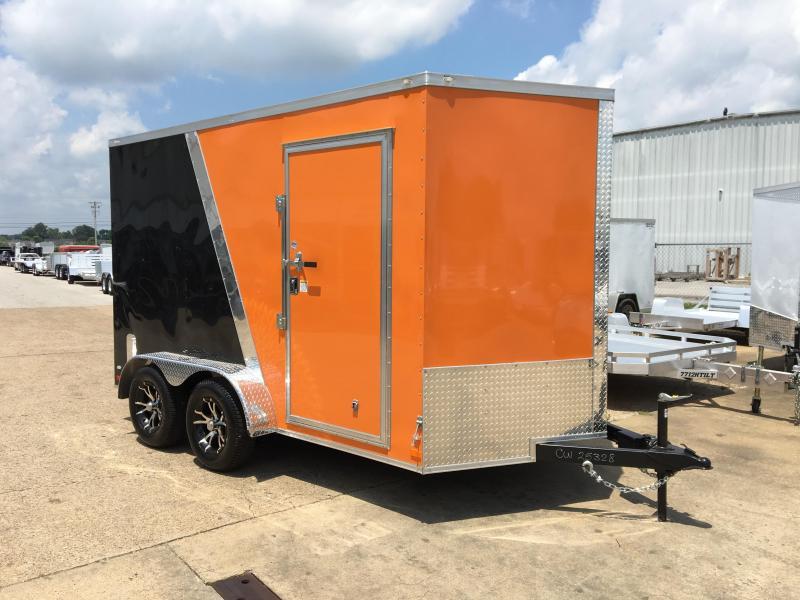 2016 CW 7' x 12' x 7' V Nose Enclosed Cargo Trailer