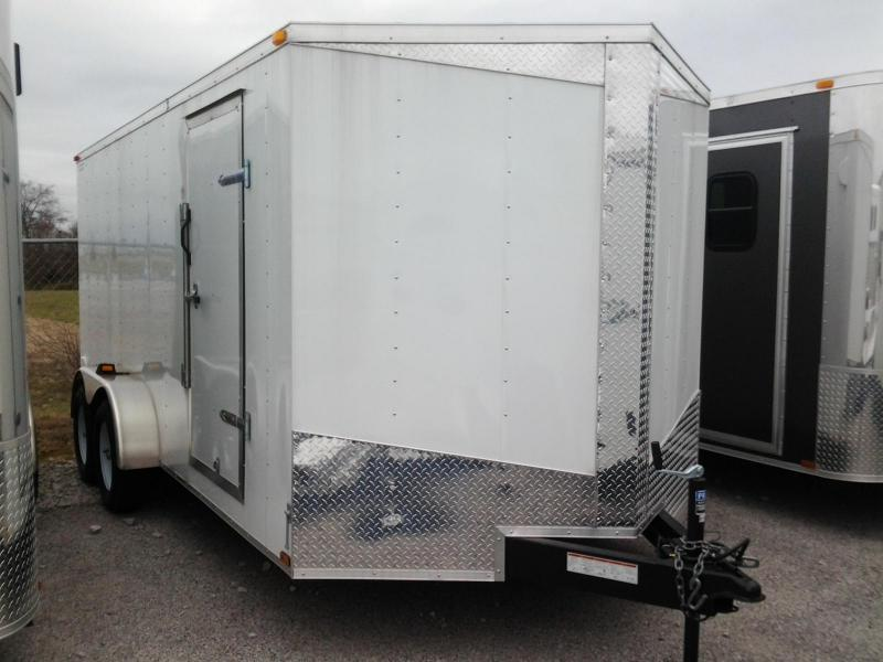 2014 Lark 7' x 16' x 6'  Enclosed Trailer Ramp Door