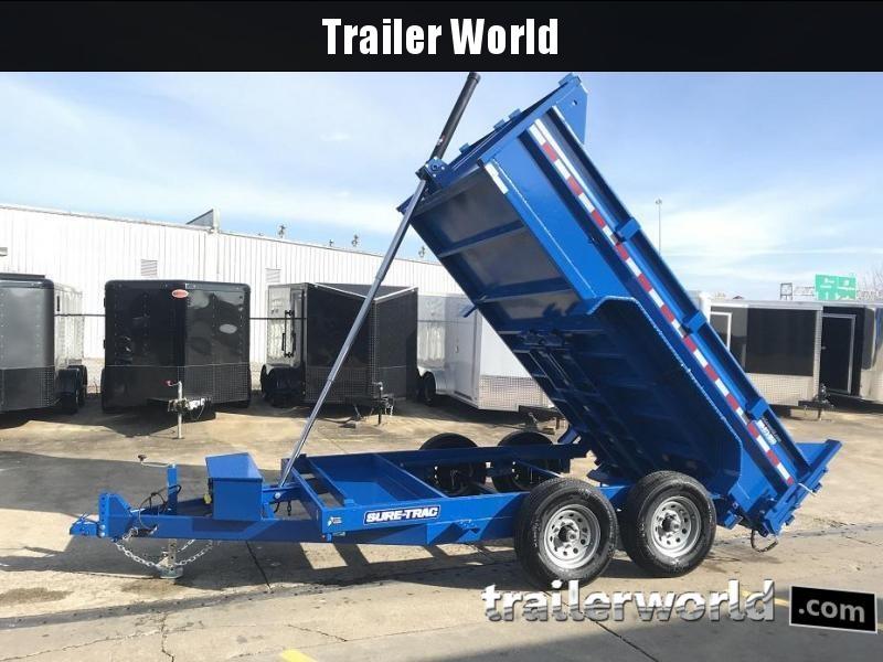 2019 Sure-Trac 12' Dump Trailer Telescopic Hoist 12k GVWR