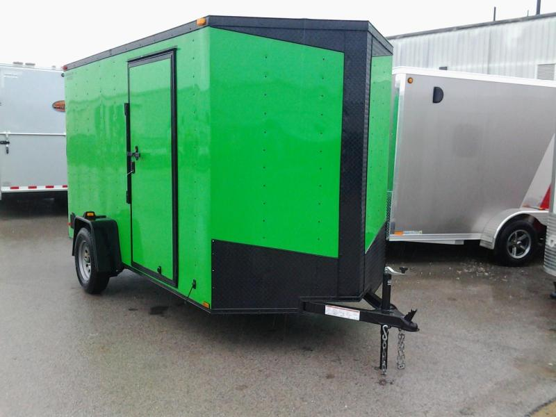 2015 Lark 6'  x 12' x 6.5' Vnose Enclosed Cargo Trailer w/ Ramp