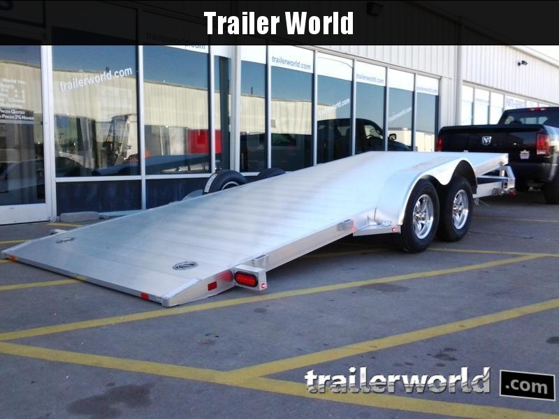 2019 Aluma 8216 Tilt Bed Aluminum Open Car Hauler Trailer