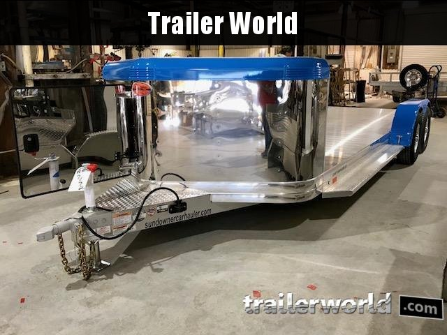 2018 Sundowner ULTRA Aluminum Open Car Hauler Trailer 22
