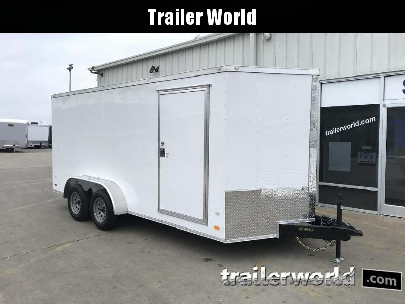 "2019 CW 7' x 16' x 6'6"" Vnose Enclosed Cargo Trailer Ramp Door"