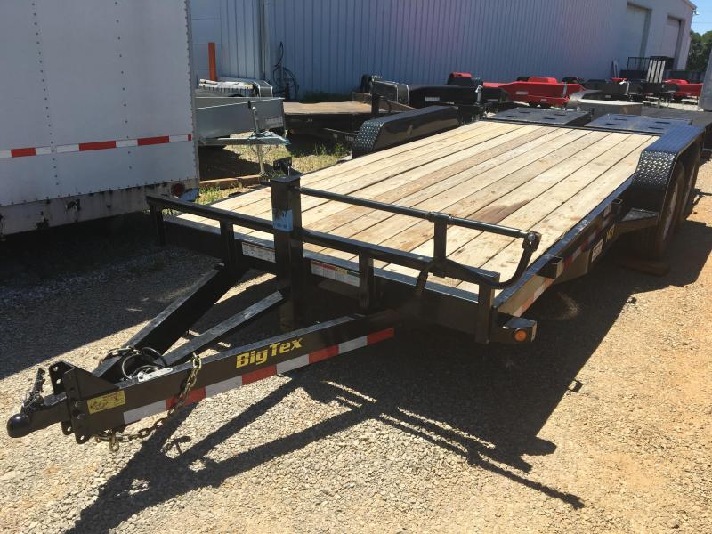 2016 Big Tex 14ET-18' Mega Ramps Flatbed Equipment Trailer  7 Ton