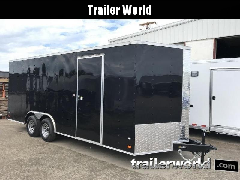 2019 CW  20' 10k GVWR Enclosed Vnose Car Trailer 7' Tall