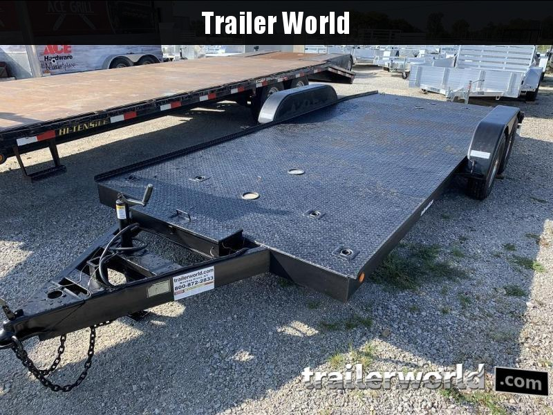 1994 Trailer World 18' Steel Deck Open Car Flatbed Trailer