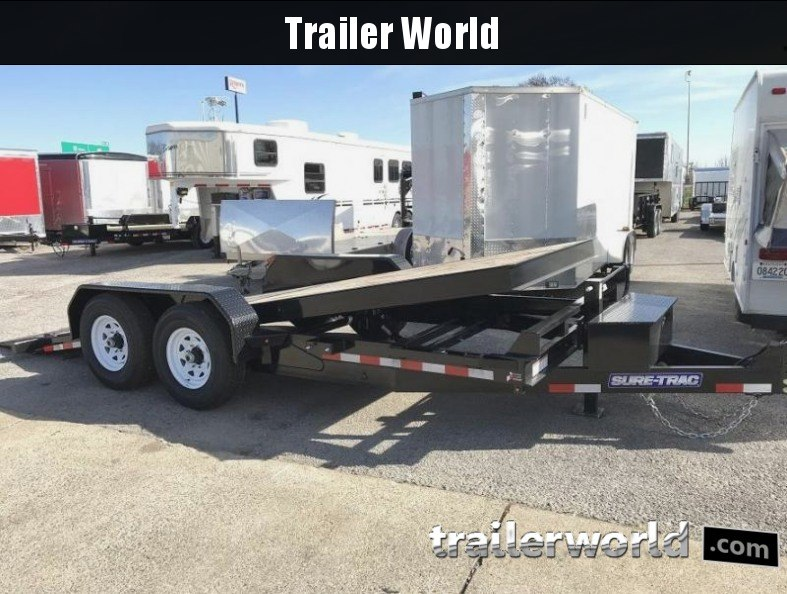 2018 Sure-Trac 7 x 18 Tilt Bed Equipment 14k GVWR Oak Floor
