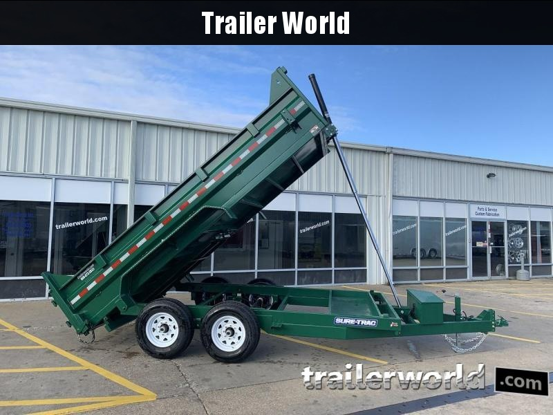2019 Sure-Trac 14' Dump Trailer 14K GVWR Telescopic Hoist