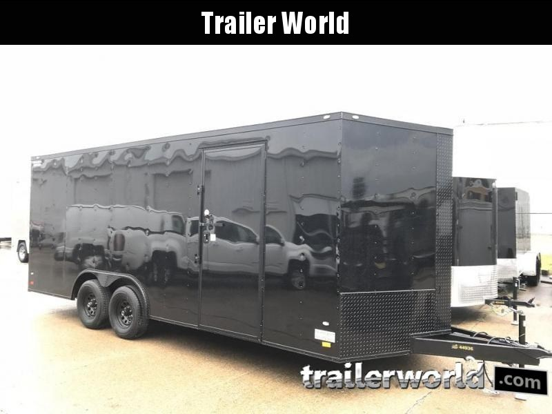 2019 CW  20' 10k GVWR Enclosed Vnose Car Trailer Black-Out Pkg
