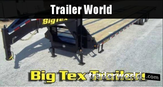 2017 Big Tex 22GN-32' Gooseneck Equipment Trailer Slide-In Ramps