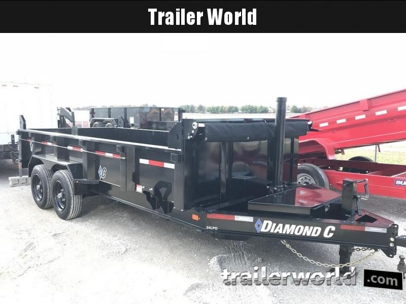 2019 Diamond C 24LPD 16' Dump Trailer Low Profile Commercial Grade 15k GVWR