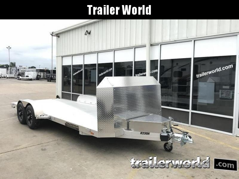 2020 Aluma 8220HB Aluminum Open Car Trailer Anniversary Edition
