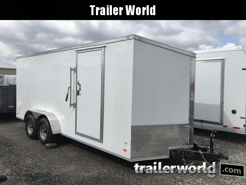 2019 CW 7' x 18' x 6.5'  Vnose Enclosed Cargo Trailer Ramp Door 10k GVWR