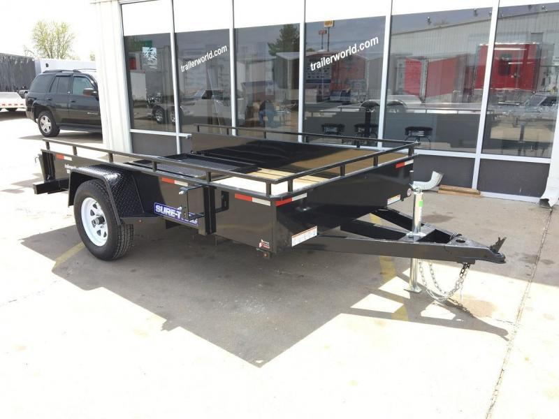 2016 Sure-Trac 6' x 10' Steel High Side Utility Trailer