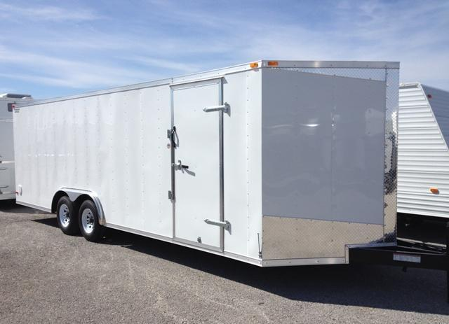 2014 Lark 24' Vnose Enclosed Car Trailer 10K GVWR