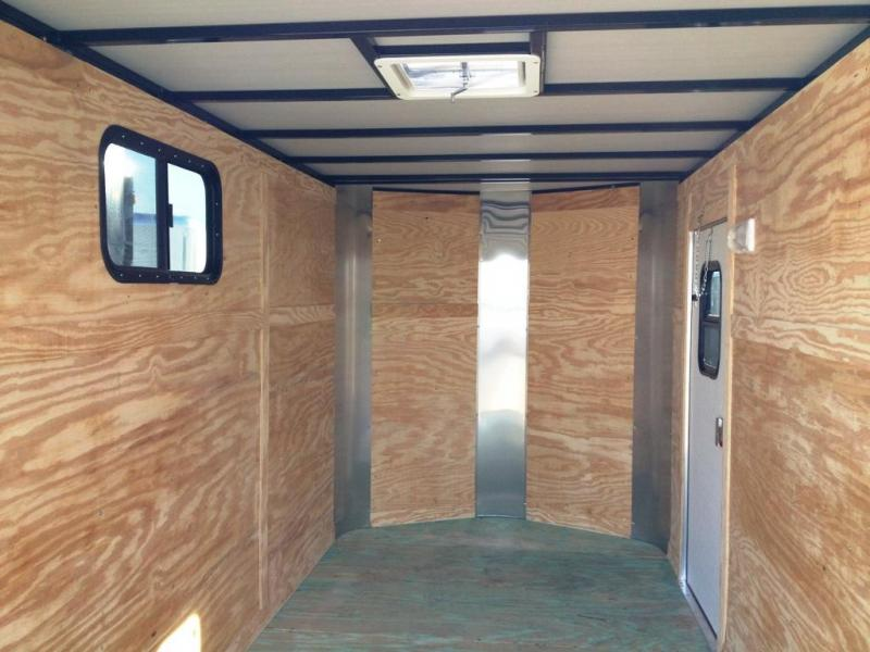 2014 ARI 6' x 12' x 6.3' Enclosed Cargo Trailer Ramp & windows