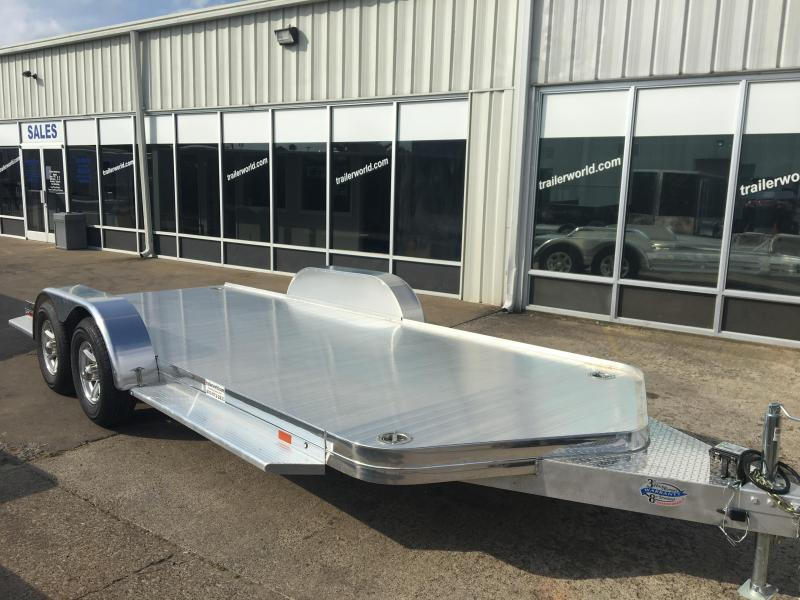 2018 Sundowner Aluminum Open Car Hauler Trailer Tapered Front