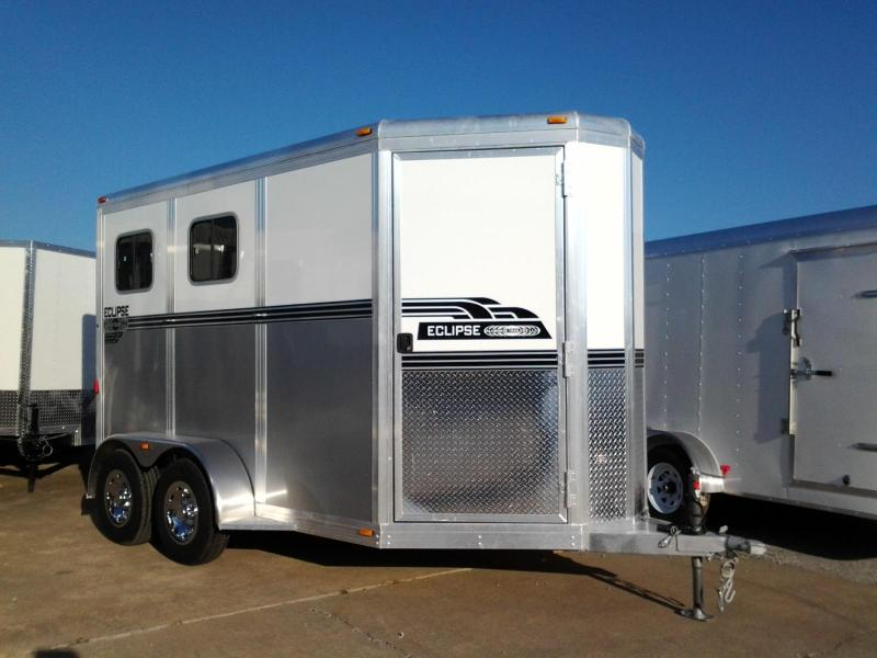 2015 Eclipse Aluminum Extended 2 Horse Trailer
